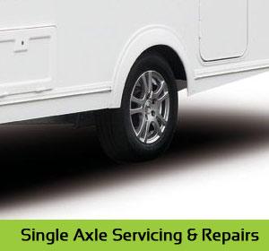 Single Axle Caravan servicing